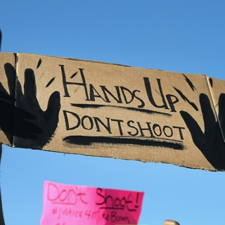 hands up, don't shoot.