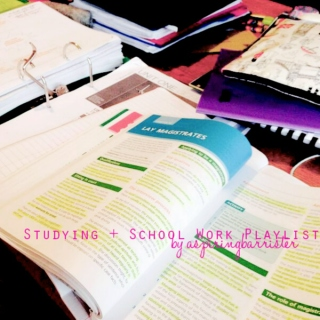 Studying + School Work Autumn 2014