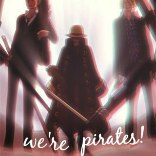 we're pirates! (a straw hat pirates mix)
