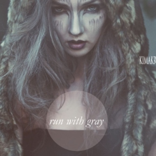 run with gray