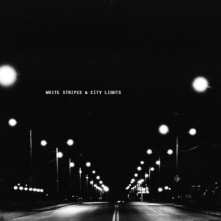 white stripes & city lights