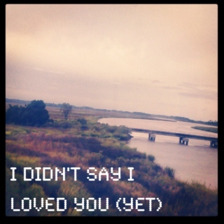 i didn't say i loved you (yet)