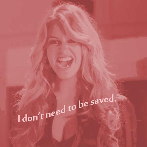 I don't need to be saved.
