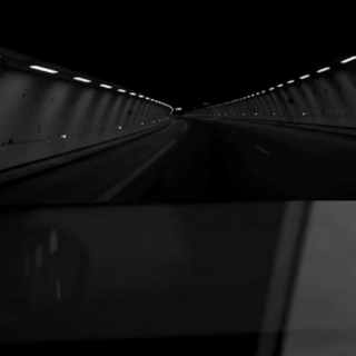 TUNNEL IN BLACK AND WHITE
