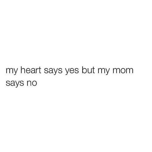 my heart says yes but my mom says no