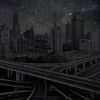 a city with stars