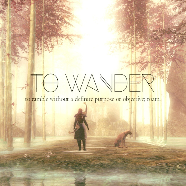 to wander;