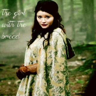 the girl with the bread