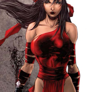 Warrior in red/Elektra