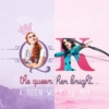 the queen and her knight || allydia au