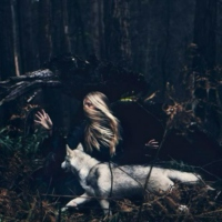 There was once a wolf and a girl