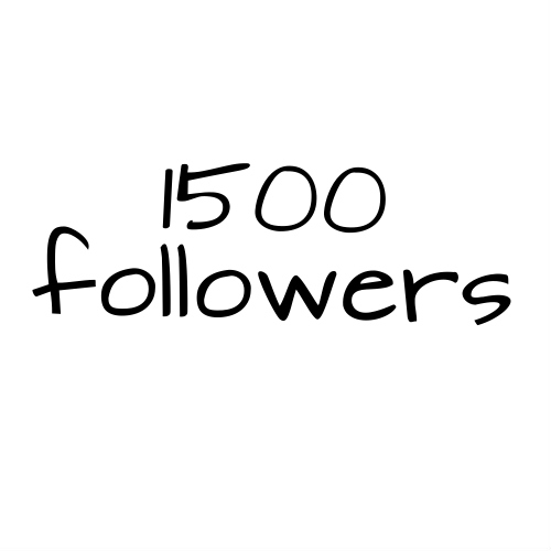 1500 Followers