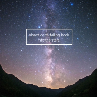 planet earth falling back into the stars