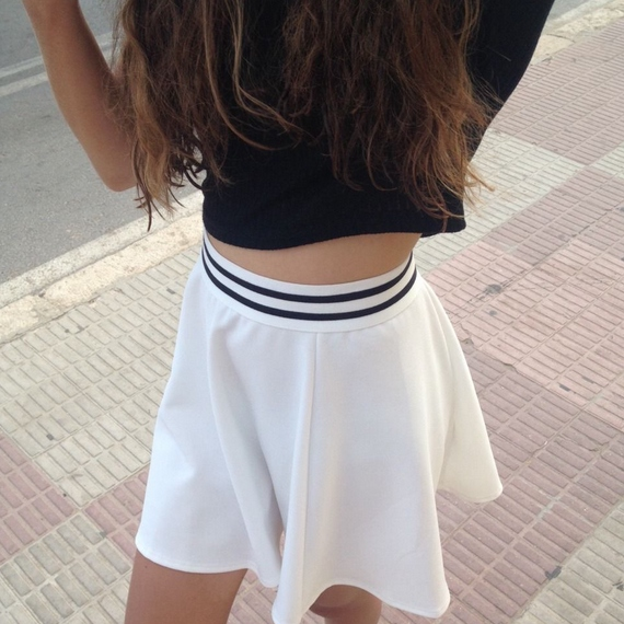short skirts, long hair