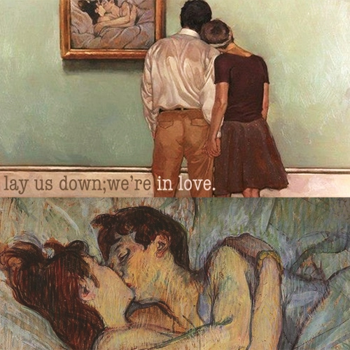 lay us down; we're in love