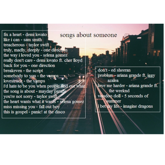 Songs about someone