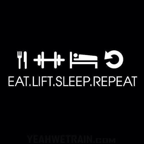 Eat, Train, Sleep, Repeat.