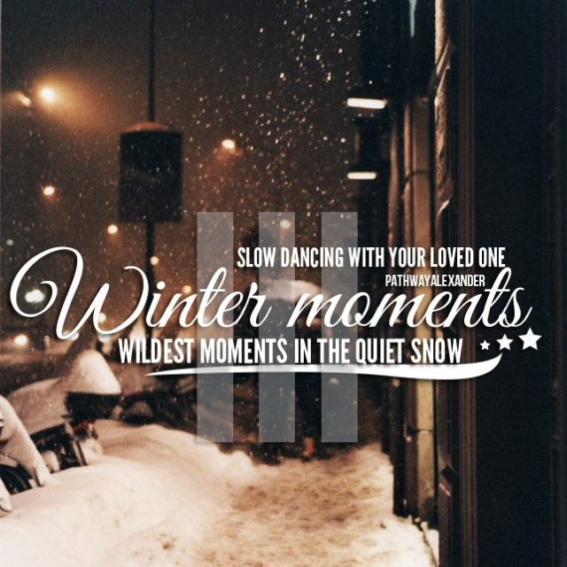 wildest moments in the quiet snow, slow dancing with your loved one. winter moments III