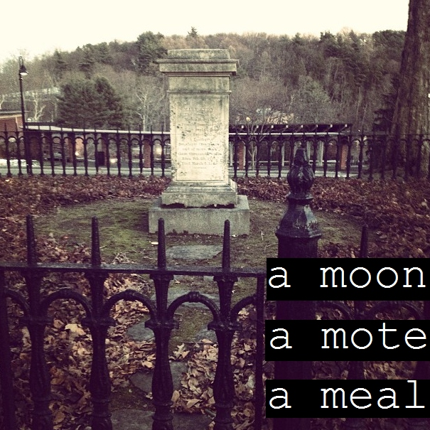 a moon, a mote, a meal