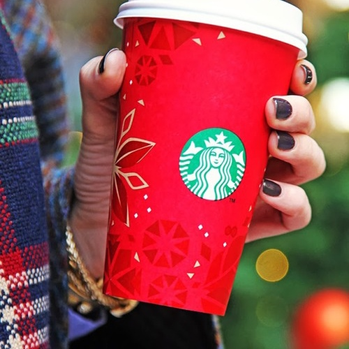 snowflakes and starbucks