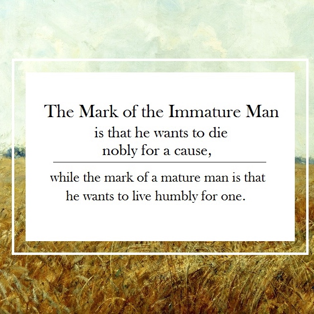 The Mark of the Immature Man