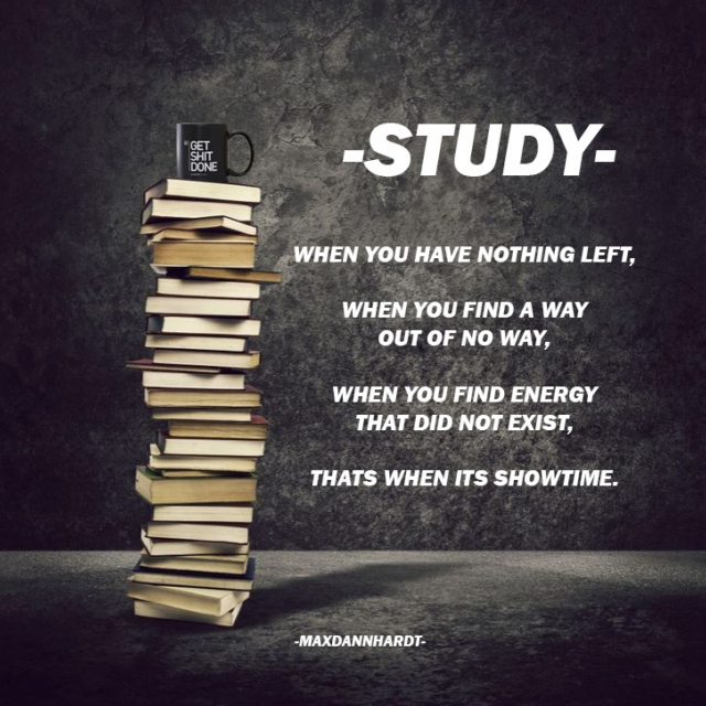 STUDY - When You Have Nothing Left, That's When It's Showtime