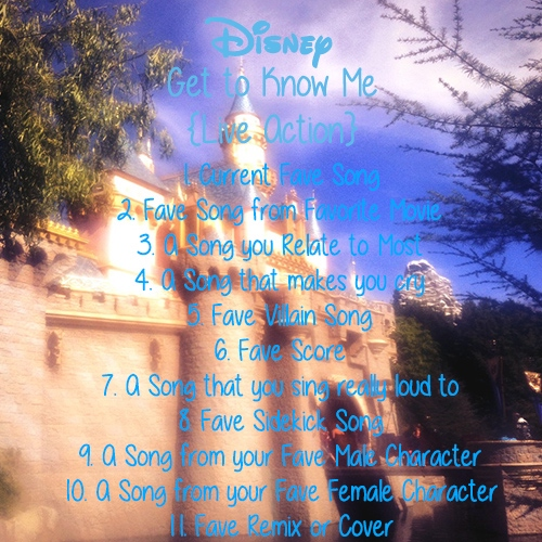 Get to Know Me through Disney {Live Action}