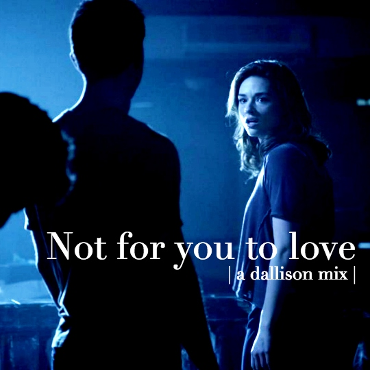 Not for you to love | a dallison mix