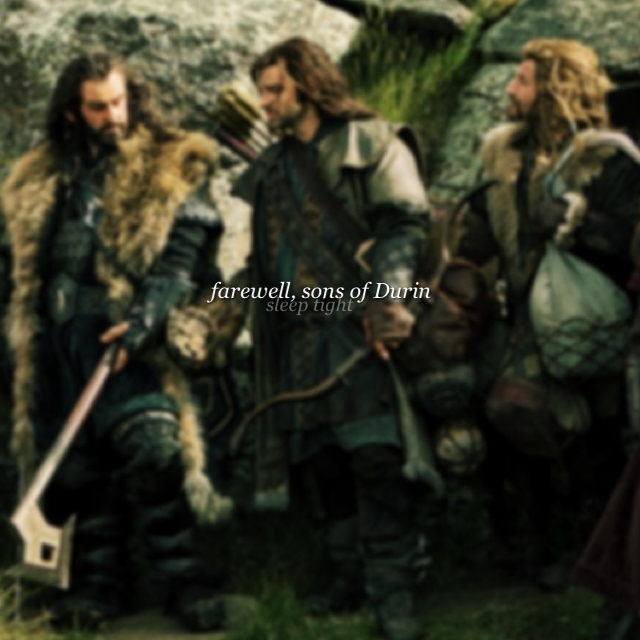 farewell, sons of Durin