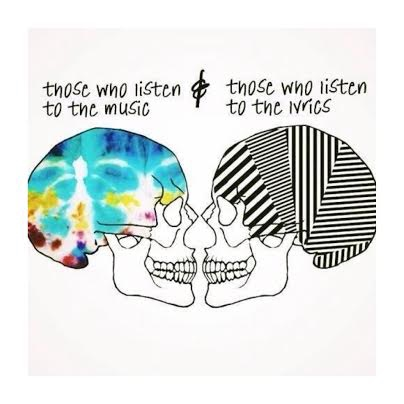 those who listen to music, those who listen to the lyrics.