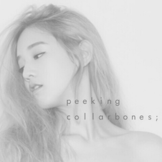 Peeking collarbones;
