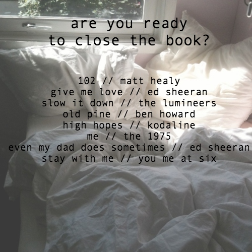 are you ready to close the book?