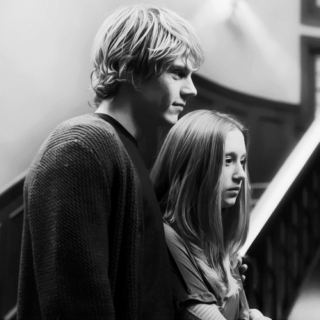 you and me together for always; tate+violet ♥