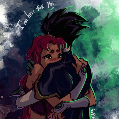 Starfire robin and Dying Love