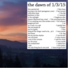 the dawn of 1/3/15