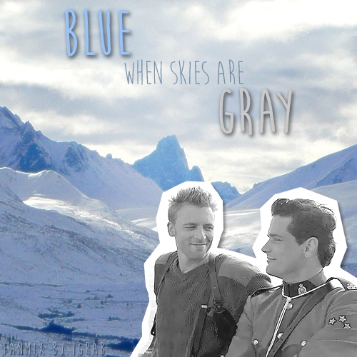 (Blue) when skies are [Gray]