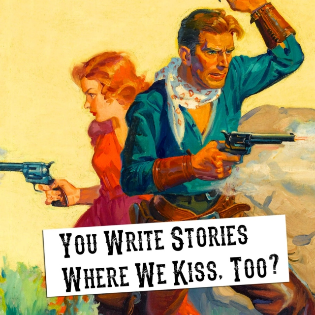 you write stories where we kiss, too? (sparks/red)