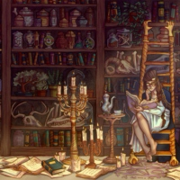 the witch's study