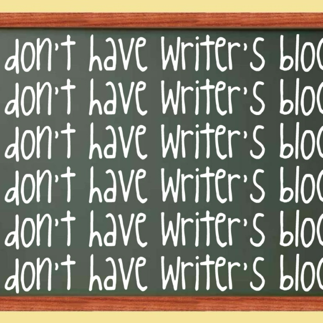 i may have writer's block but i won't let it stop me!