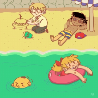 Lets Go Swimming At The Beach!