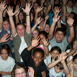 everybody's hands go up! and they stay there!