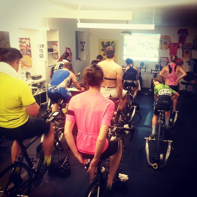 Spin Class - motivation for GS sweaters