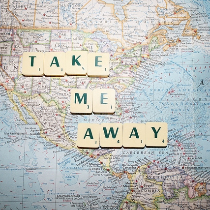 just to get away...