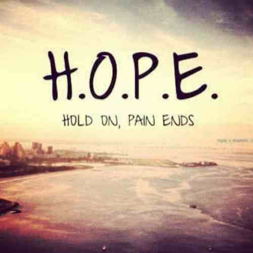 Hope is all we have