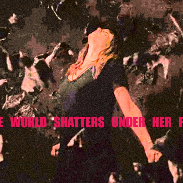 the world shatters under her feet