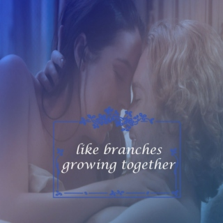 {like branches growing together}