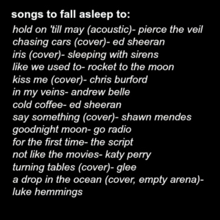 songs to fall asleep to