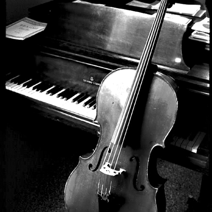 The piano and strings