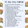 ☁ 30 day song challenge ☁
