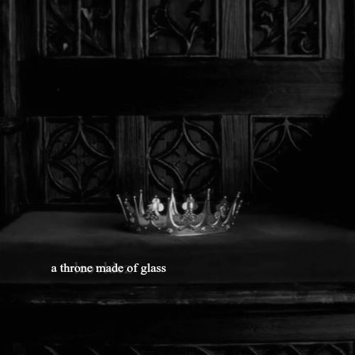a throne made of glass